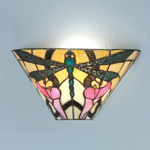 Ashton Wall Light (Art Nouveau, Nature, Small Table Lamp) T022W (Tiffany style)